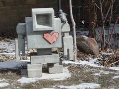 Toronto 2014 (bella.m) Tags: streetart toronto ontario canada art angel graffiti robot heart urbanart robotlove lovebot robotsculpture matthewdeldegan vision:text=0614 vision:outdoor=0959