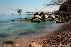 "Trabocchi di San Vito Chietino - long exposure <a style=""margin-left:10px; font-size:0.8em;"" href=""http://www.flickr.com/photos/24828582@N00/13329406443/"" target=""_blank"">@flickr</a>"