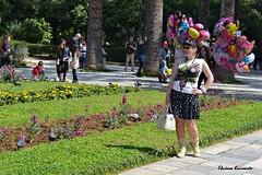 Tourism in Athens (Eleanna Kounoupa) Tags: street woman balloons athens greece nationalgarden     hccity  stphotographia