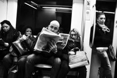A ciasuno il suo (cecco90) Tags: people blackandwhite bw rome roma monochrome blackwhite metro persone metropolitana viaggio biancoenero passeggeri passeggeridistratti