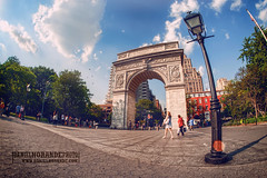 Washington Square Park (Daniel Horande Photography) Tags: park new york parque lamp square daylight washington high nikon dynamic daniel arc sigma range alto nueva arco hdr dinamico rango horande danielhorandecom