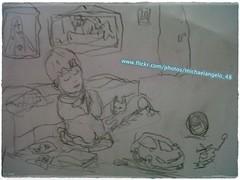 A Child - A sketch (michaelangelo_48) Tags: playing children child heart god praying kinderen voice nios dessin peinture kind crianas dibujo enfant desenho  croquis zeichnung tekening malerei    schets