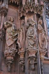 Statues cathdrale Notre-Dame de Strasbourg (Alsace - Bas Rhin) (bobroy20) Tags: france statue religion strasbourg cathdrale alsace histoire basrhin hritage lieudeculte patrimoinereligieux cathdralenotredamedestrasbourg