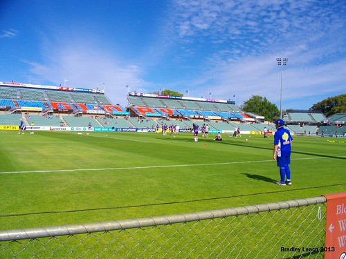 Perth Glory Warm Up