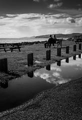 In A Reflective Mood (DrJekyll UK) Tags: reflection togetherness coast coastal together reflective enjoyingtheview reflectedsky portencross scottishcoast coupleonabench ayrshirecoast