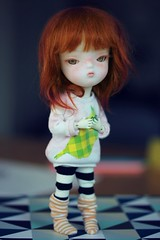 Noa with her new face up (andreeamariuka) Tags: person outfit doll 21 redhead bjd freckles secretdoll icantdance