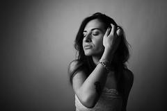 Studio Portrait (guido.masi) Tags: portrait blackandwhite woman canon eos firenze ritratto biancoenero visiva 550d guidomasi httpswwwfacebookcomvisivafirenze