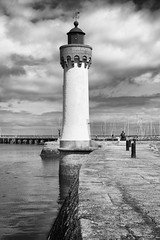 Harbor lighthouse (Laurent photography) Tags: city light wallpaper blackandwhite bw lighthouse france architecture port photoshop french landscape geotagged harbor nikon europe flickr nb hd 365 nikkor fx morbihan geographic nationalgeographic awesomeshot belleileenmer supershot edgeoftown dailyfrenchpod d700 infinestyle concordians theartistseyes laurentphotography