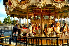 Loitering with the Horses (EmperorNorton47) Tags: california winter digital photo afternoon strangers carousel merrygoround irvine greatpark