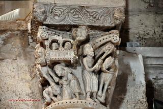 373 - Capitel Arco Triunfal - Iglesia de la Asunción - Aguilar de Bureba (Burgos) - Spain.