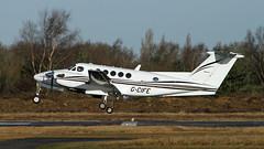G-CIFE BEECH B200 KING AIR ZK450 (BIKEPILOT) Tags: flying airport aircraft aviation aeroplane beech airfield aerodrome blackbushe zk450 eglk b200kingair gcife