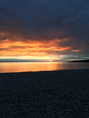Sunset (andyj.jones) Tags: sunset sea sun beach wales evening barry knap
