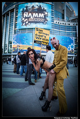 NAMM-2015-by-Fred-Morledge-PhotoFM-220 (Fred Morledge) Tags: music woman hot sign rock musicians los angeles guitars sin bible fundamentalist anaheim hotgirls picket namm 2015 carvin anaheimconventioncenter conventionmodel hotwomen musicianphotography thumpers underthewire nammconvention photofm fredmorledge photofmcom
