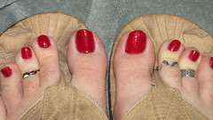Sally Hansen/Hard as Nails | Red Carpet (markrudolph203) Tags: man color male guy wearing toes toe sandals nail dude ring rings nails thongs toering toenails redcarpet toenail hardasnails wareing toeringssallyhansen polishenamel