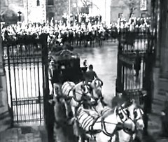 State Opening of Parliament, Victoria Tower, Palace of Westminster (Houses of Parliament) , Westminster, London, SW1. UK. 1960. (sgterniebilko) Tags: horses ad housesofparliament 1960 palaceofwestminster metropolitanpolice victoriatower alphadelta normanshaw inuniform ceremonials stateopeningofparliament policeconstables cannonrowpolicestation