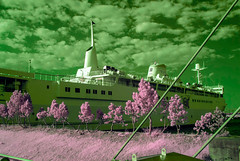 Aomori Ferry Boat In Infrared (aeschylus18917) Tags: nature japan ferry port landscape ir boat dock nikon scenery ship surreal aomori infrared 日本 d200 青森 2485mm 赤外線 青森市 ダニエル danielruyle aeschylus18917 danruyle druyle ルール ダニエルルール