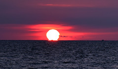 the end of the day (bluefam) Tags: sunset sea sky sun evening boat fishing