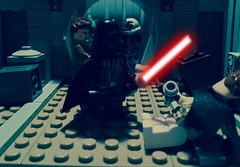 Darth Vader - Volume 1 - Heir to the Empire - Part 8 (Supremedalekdunn) Tags: light blackandwhite dark star palpatine lego mask side group lord story darth empire saber jedi anakin wars vader heir sith emperor skywalker sidious