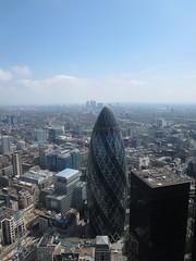 View from the roof of Tower 42 (John Steedman) Tags: uk greatbritain england london unitedkingdom docklands gherkin grossbritannien     grandebretagne