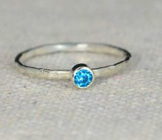 Classic Sterling Sil (alaridesign) Tags: blue classic by silver december band jewelry ring mothers sterling zircon solitaire birthstone 3mm alaridesign