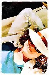 Watercolour Hat (spookyrach) Tags: sun afternoon hammock snooze