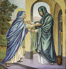 Visitation of Our Lady (Lawrence OP) Tags: washingtondc mosaic pregnancy monastery visitation biblical franciscan stelizabeth blessedvirginmary