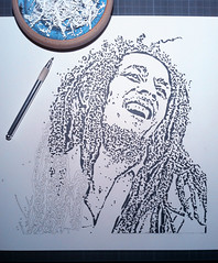 The Singer (Wlden) Tags: streetart stencil jamaica reggae rasta bobmarley pochoir schablonen plantilla sansalvario