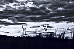 Blue Skiees (Perspective Detective) Tags: blue sky clouds landscape moody power stormy rule thirds
