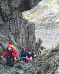 TrekCo trainee outdoor instructors on Bristly Ridge in North Wales