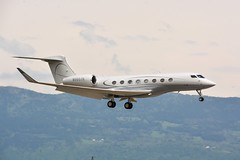 Gulfstream G650 N650JK. (Austyn Pratt) Tags: plane airplane geneva aircraft aviation flight aeroplane gulfstream bizjet privatejet corporatejet g650 ebace n650jk