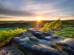 Gardoms sunset (Stephen Elliott Photography) Tags: sunset reflections evening spring rocks derbyshire peakdistrict olympus edge filters nisi em1 baslow 714mm gardoms