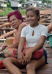 pretty girl with her grandmother (the foreign photographer - ) Tags: girl portraits hair thailand nikon pretty sitting purple grandmother bangkok pillow lard bang bua khlong bangkhen d3200 phrao may282016nikon