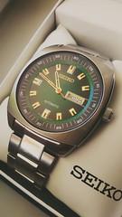 Seiko Recraft SNKM97 (werkmania.hu) Tags: green mobile japan japanese gold steel watch note wristwatch seiko stainless xiaomi recraft redmi snkm97