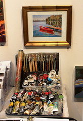 Tools of the Trade (skipmoore) Tags: art painting artist brushes sausalito paints winteropenstudios
