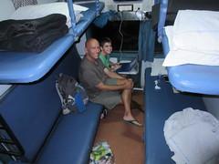 Sleeper train between Agra & Khajuraho (8 hours daytime, but more comfy with the beds!) (vbolinius) Tags: travel india train khajuraho 2016 cooperbolinius vernbolinius