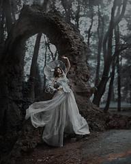 alien (IrinaDzhul) Tags: trees portrait people white girl rock dress stones alien dream portal arca irinadzhul dzhulirina