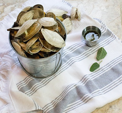 Steamers with Sage Garlic Butter (Just Me and the Clams) Tags: new ...