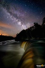 """A Billion Stars"" (Michigan Nut) Tags: longexposure usa nature night stars landscape outdoors waterfall michigan scenic galaxy nightsky upperpeninsula milkyway tahquamenonfalls"