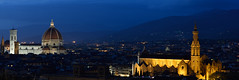 Florence Panorama (jfusion61) Tags: santa blue panorama night del lights florence nikon maria basilica italu hour di duomo michelangelo fiore piazzale croce cattedrale 70200mm d810