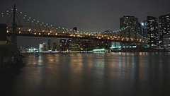 Ed Koch Queens Borough Bridge (Lojones13) Tags: city newyorkcity bridge water night eastriver queensboroughbridge edkoch