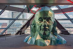 Ben Franklin at  the One Liberty Observation Deck (Philadelphia, PA) (Jersey Camera) Tags: philadelphia skyscraper observationdeck philadelphiapa philadelphiapennsylvania oneliberty onelibertyobservationdeck