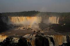 Rainbow Falls (legalluce) Tags: trees nature water river outside outdoors waterfall rainbow scenery waterfalls iguazu