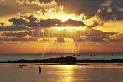 Man satnding in golden coastal twilight scene (Nicholas Duell) Tags: sky cloud sun beach landscape twilight lifestyle australia melbourne victoria coastal sunsetsunrise