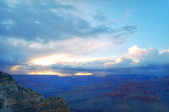 DSC_0012 powell point storm at sunset hdr 850 (guine) Tags: sunset storm clouds rocks grandcanyon canyon hdr luminance grandcanyonnationalpark qtpfsgui