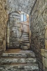 Steps to the Battlements (David Baldock Photography) Tags: light texture stone fuji passage patten xpro1
