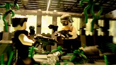 Apoc Combat (Nathan Pownell) Tags: apoc brickarms gibrick war battle duel combat fight lego smg stuff