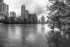 140/365.2016 Texas Floods (OscarAmos) Tags: blackandwhite skyline austin downtown texas coloradoriver townlake hdr lightroom 18200mm photomatix detailenhancer topazadjust project3652016 nikond7200 oscaramosphotography