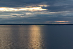 The Sky & Land & Sea (J. Pelz) Tags: ocean sunset sea sky nature canon view sweden bluehour