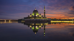 dramatic cloudy (gilbertchuachian_siong) Tags: park morning travel lake reflection building tourism water sunrise landscape photography asia exposure arch peace photographer exterior waterfront cloudy sony muslim famous prayer relaxing mosque explore malaysia destination kualalumpur putrajaya interest masjid putra a6000 photohopexpress