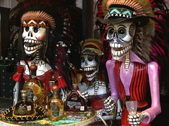 Party table (Under Scored 2) Tags: shop dayofthedead mexico town store playadelcarmen indoor tequila iphone